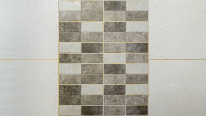 Tile divided in the middle by colored mosaic as texture background surface for design and decoration Ancient Antique Colored Mosaic Wall Backdrop Background Block Colorful Creative Decoration Design Element Fabric Fashioned Fracture Geometric Material Stone Structure Surface Texture Tile Vintage Wallpaper