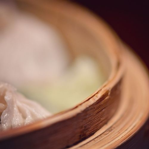 Close-Up Of Dumpling In Container