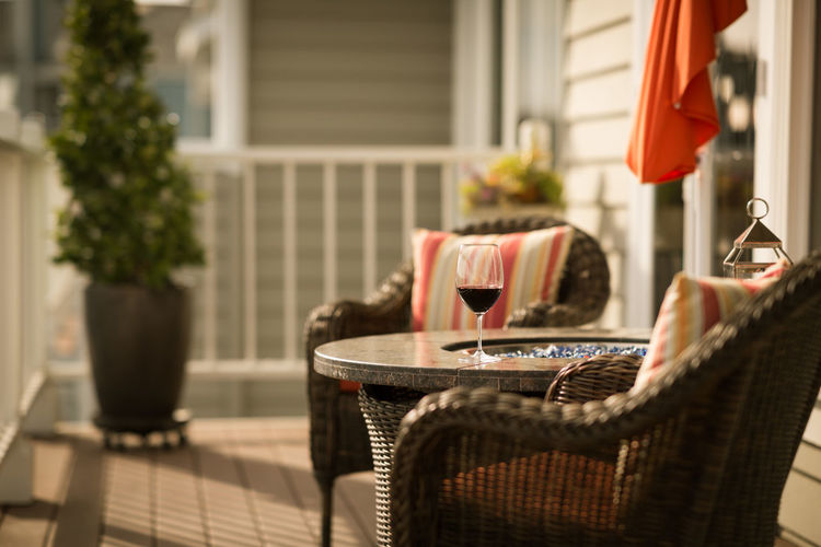 Easter Wine in the Afternoon Afternoon Architecture Building Exterior Built Structure California Close-up Comfortable Day Fireplace Focus On Foreground No People Outdoors Outside Patio Porch Relaxing Springtime Summer Table Tranquility Wine Wine Glass Resist Wine Not