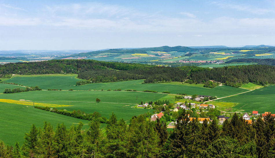 View from Burg Hanstein Deutschland Agriculture Bornhagen Field Green Color Hanstein Landscape Nature No People Non-urban Scene Outdoors Scenics - Nature