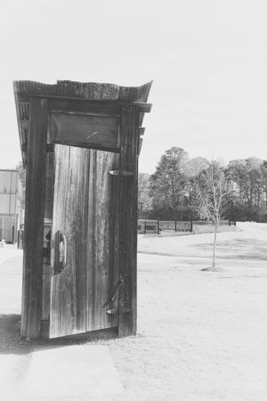 Elvis Presley Birthplace Elvis Presley TupeloMississippi Memorial Noir Blackandwhite Door Outhouse Potty