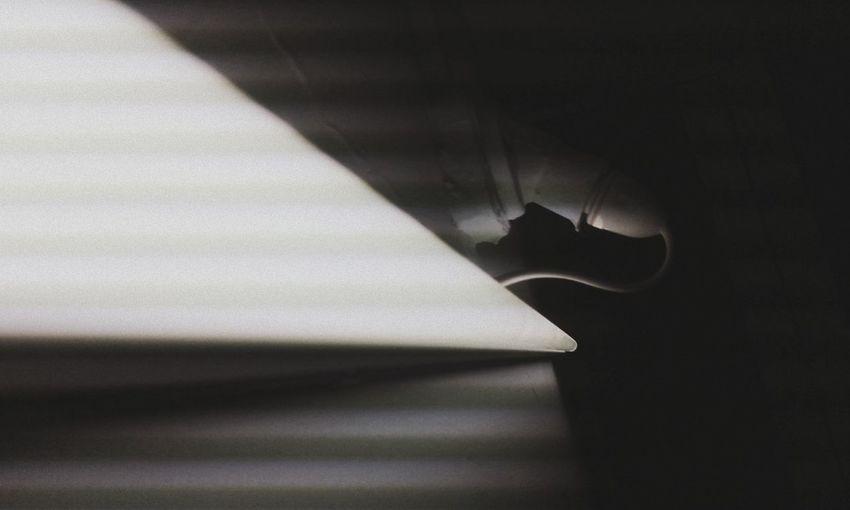 Interior of dark room