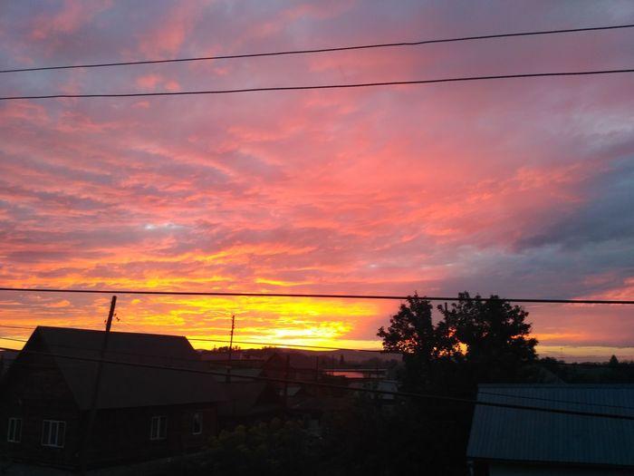 Sunset Dramatic Sky Orange Color Cloud - Sky Sky Beauty In Nature Nature Landscape Day Rural Scene
