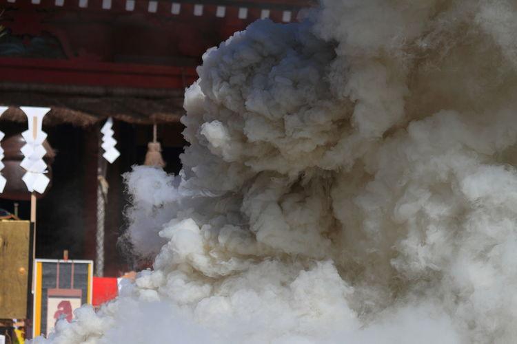 数年前の彦山神社お焚上げ🎵(*