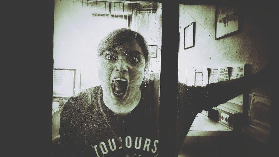 Walking Dead Scream Scarryface Portrait Close-up