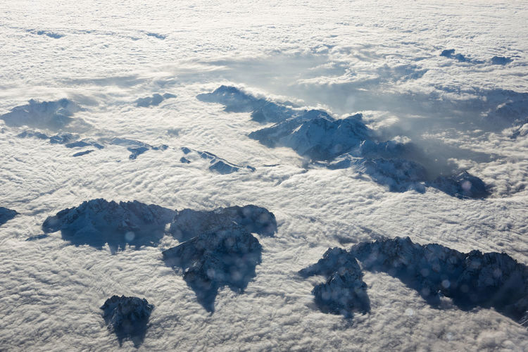 Winterlust Mountains Mountain Peak Clouds Cold Temperature Freezing Landscape Panorama Nature Wild From The Plane Window Up In The Sky Blue Linas Was Here