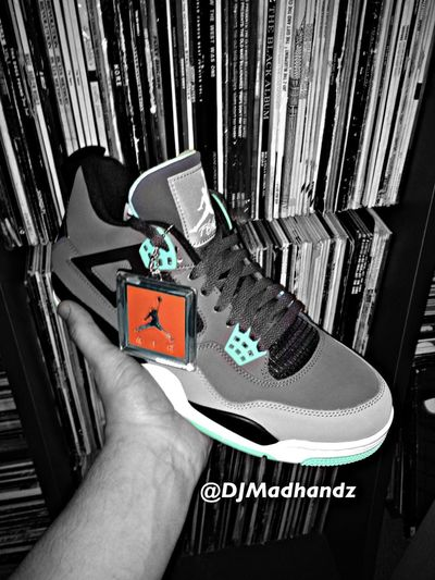 Air Jordan IV Green Glow, edited by myself Airjordan4 Greenglow Sneakerhead  Sneakers