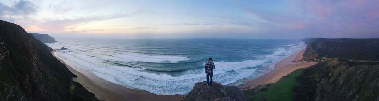 Sea Pure Photography Pure Nature Nophotoshop Waves, Ocean, Nature VSCO Beautiful Nature Beach Photography Algarve Portugal Photography Panorama Freedom Cordoama On Top Of The World View Sunset