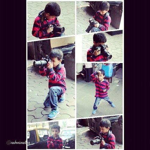 ArnavsViews : my Son having a blast with the @mumbai_igers InstaWalk Instameet Colaba Instawalkcolaba