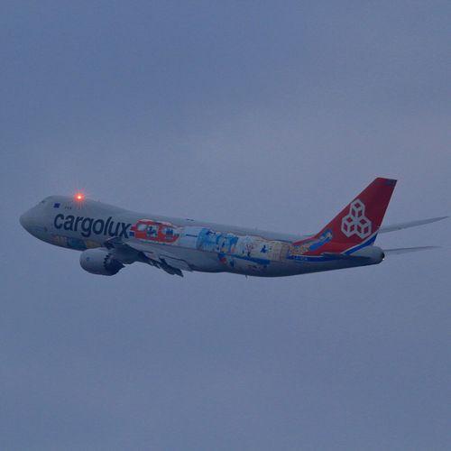 cargolux in the rain Airplane Komatsu Airport Cargo Cargolux LX-VCM In The Rain B747-8f