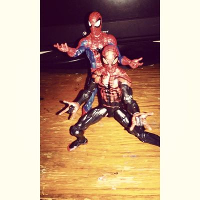 The dream right here oooooooooooooo yaaaaaaaeee Fuckyea Spiderman Spiderblood Superiorspiderman Figurecollecting Figures Marvellengends Marvel Geekingout Thecrew