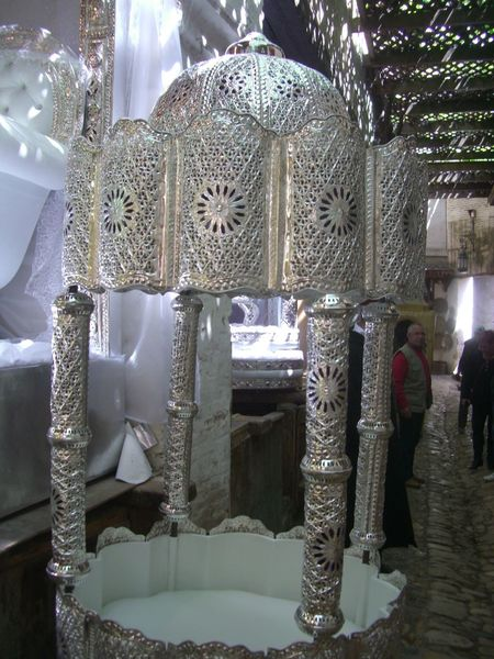 Moroccan Wedding Equipment, Medina City Close-up Composition Full Frame Fé Indoor Photography Indoors  Mediterranean  Moroccan Culture Moroccan Style Moroccan Tradition Morocco No People Ornate Silver Colour Store Traditional Culture Traditional Festival Wedding Wedding Equipment Workchop