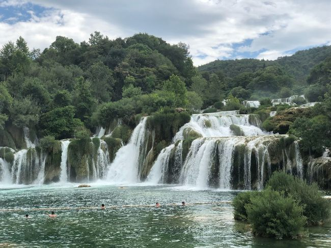 Croatia Tree Plant Water Sky Nature Cloud - Sky Growth Motion Beauty In Nature Scenics - Nature Flowing Water Waterfall