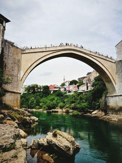 Scenic view of stari most, bosnia and herzegovina