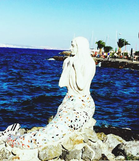 Mermaid Statue Art Sea Seaview Mobile Photography Mobilephotography IPhoneography Princeislands Prinkipo Showcase July Island Life
