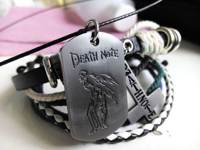 Got this from my santa. :) Death Note Bracelet & Necklace Birthday & Christmas Gift I Love It ❤