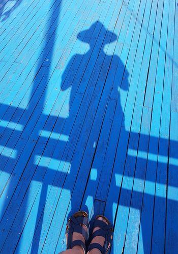 shadow EyeEm Gallery Low Section Standing Blue Human Leg Shadow Shoe Men Close-up