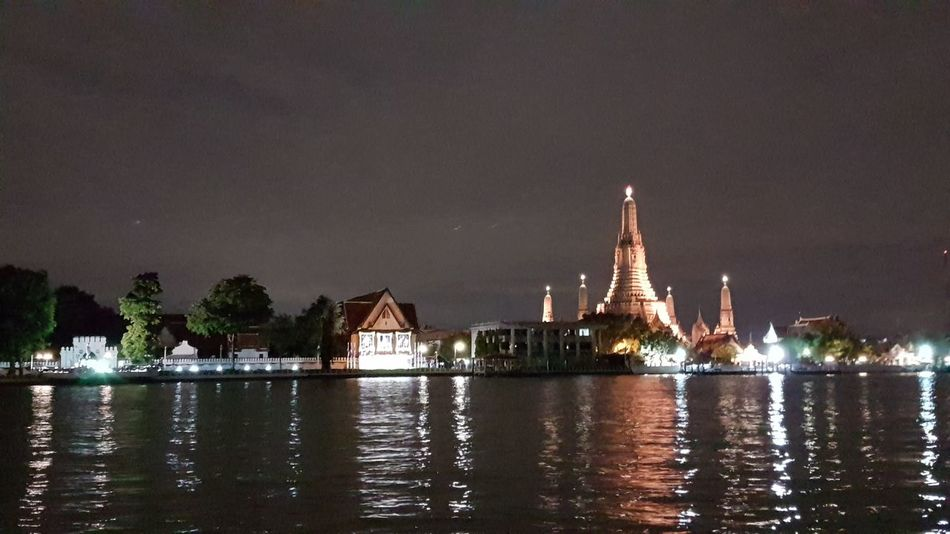 Wat arun View from vivi the coffee place. Night Travel Destinations Water Architecture Illuminated Tourism Travel Built Structure Religion City No People Tree Vacations Outdoors Cityscape Building Exterior Sky Nature River View Coffee Shop Vivi Coffee Place Bangkokeater