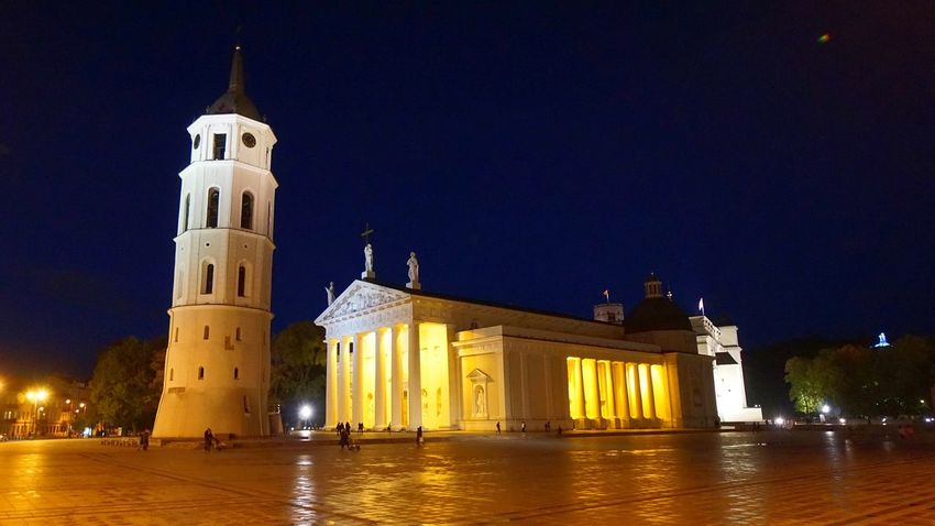 Night Illuminated Architecture Travel Destinations History Outdoors Clock Tower Clock City Vilnius, Lithuania Vilniusatnight Vilnius Building Exterior Photography Photooftheday City Photography Buildings Cathedral Square Gediminas Castle Vilnius Cathedral Square Nightphotography Night City Night Photography Europe