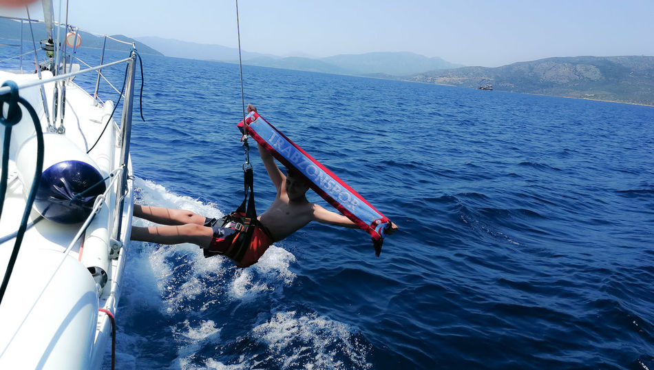 EyeEm Selects Sportsman Athlete Water Nautical Vessel Sport Sea Full Length Men Sports Clothing Hanging