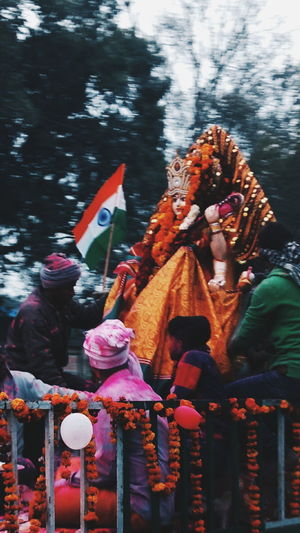 Jay mata di - abshine stories Festival Jaymatadi Abshine_stories Today VSCO Moto Motog4plus Motorola Mobilepic Mobilephotography Delhi Water Tradition Outdoors Day Nautical Vessel Statue No People Nature