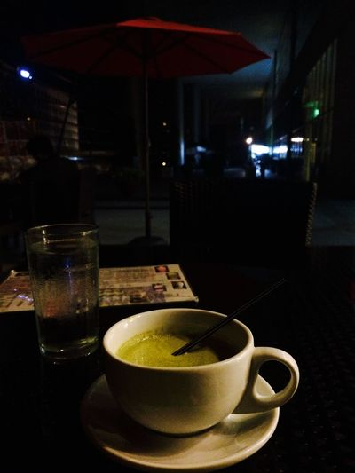 Midnighttea and the Redumbrella Matcha Alone Dark Nofilter IPhoneography