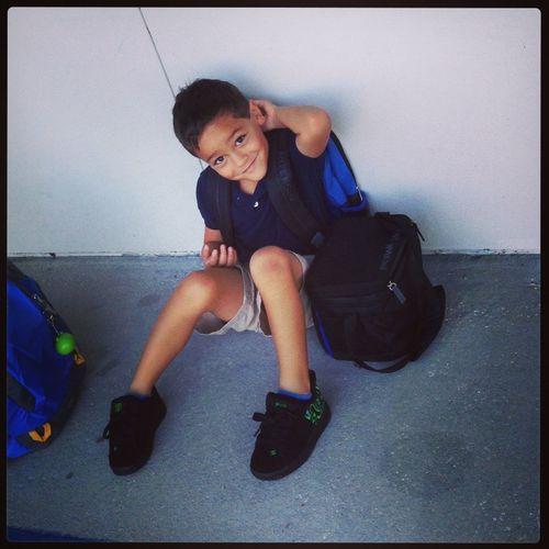 My big first grader Firstdayofschool Handsome