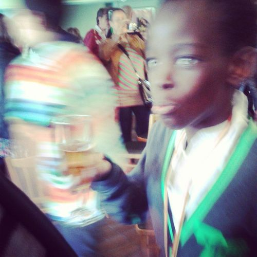 Lil bro is going to high school! ProudSis Blurry Arón