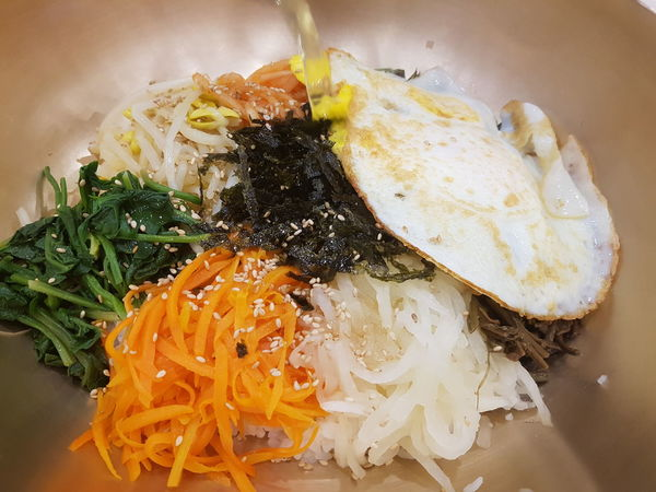 BibimbapisatraditionalKoreandish Bibimbap 비빔밥 EyeEm Selects Egg Yolk Fried Egg Egg Vegetable Close-up Food And Drink