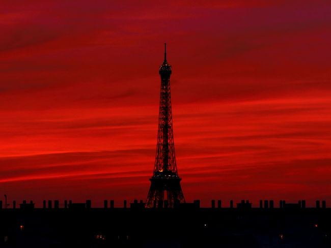City of Love Eiffel Tower France Paris RedSky Tour Eiffel Beautifulsky Eiffeiltower Eiffel Eiffel_tower  Eiffeltower Frenchphotographer Landscape Photographer Photography Roofofparis Sunset Toureiffel