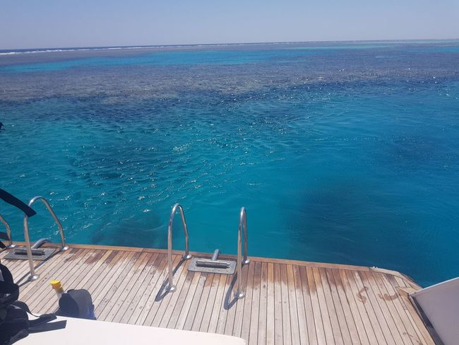 Red Sea,Hurghada,Egypt Snorkling Boat Holiday View Egypt EyeEm Selects Water Sea Beach Blue Luxury Luxury Hotel Sky Horizon Over Water Boat Deck Seascape