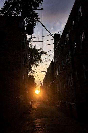 Evening stroll Chicago Sunset Alley