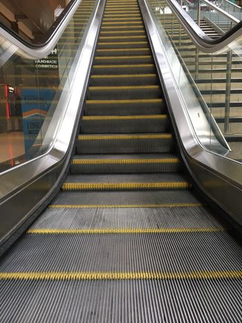 Escalator Steps Transportation Staircase Built Structure No People The Way Forward Steps And Staircases Shopping Mall Moving Walkway  Subway Train