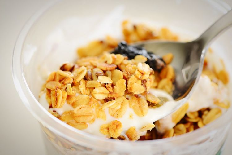 Nuts Seeds Oatmeal Greek Yogurt Yogurt Multi Grain Grain Fiber Cereal Granola Food And Drink Food Bowl Wellbeing Healthy Eating Close-up Freshness Still Life Breakfast Dairy Product Ready-to-eat Spoon High Angle View Breakfast Cereal Meal