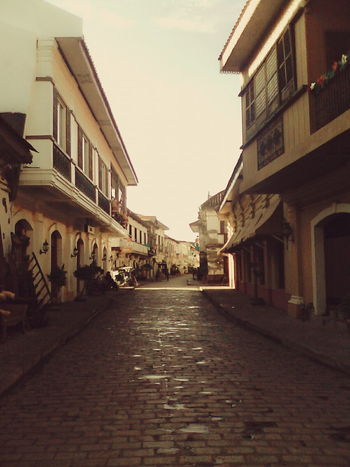Architecture Building Building Exterior Built Structure Culture Exterior Façade Historic History Narrow Old Houses Outdoors Perspective Spanish Arquitecture Vigan Philippines