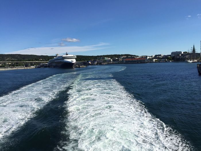 View from the Fjordline Superspeed Ferry. In 2:15 Hours we will be in Danmark. Ferry