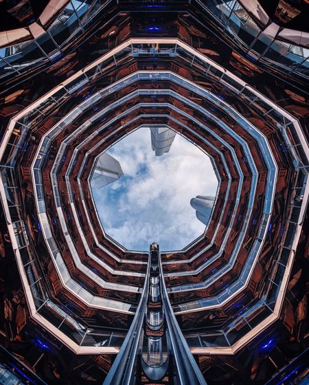 The Vessel Built Structure Architecture Sky Cloud - Sky No People Nature Building Exterior Pattern Diminishing Perspective Architectural Feature Travel Destinations Low Angle View The Architect - 2019 EyeEm Awards