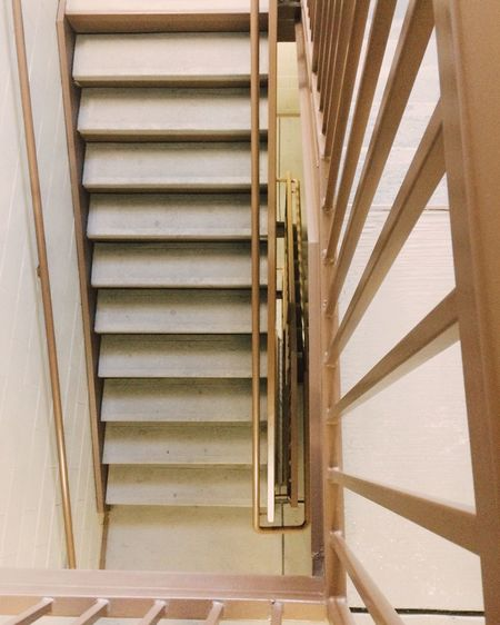 Directly above shot of stairs