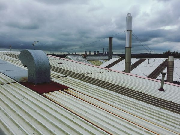 Industrial rooftop Industry Industrial Building  Industrialization Roof Rooftops Rooftop View  Chimney Stacks Outdoors City Manufacturing Cooling Tower Power Station Pollution Factories
