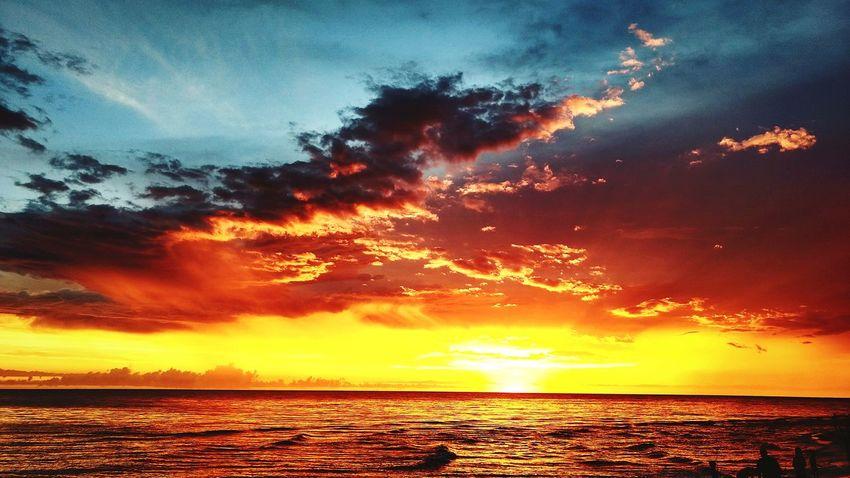 Sunset Dramatic Sky Sea Horizon Over Water Cloud - Sky Landscape Scenics Nature Orange Color Beach Sky No People Beauty In Nature Outdoors Horizon Sun Water Tranquil Scene Seascape ocean