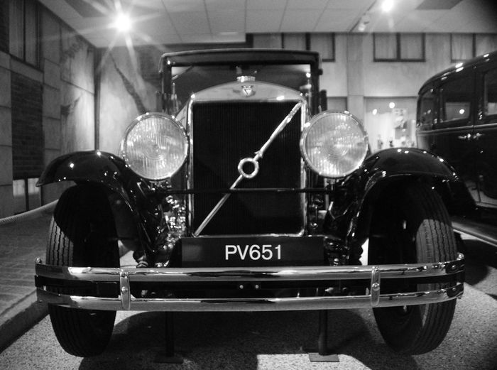 Volvo PV651 Car Old Headlights Blackandwhite Swedish Automobile Museum Sweden Illuminated Windshield Car Point Of View Land Vehicle Vintage Car Vehicle Windshield Wiper Vehicle Interior Steering Wheel
