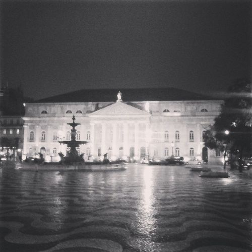 Theatre Lisbon Rossio Night lights reflection igdaily dailyphoto dailypic webstragm instaphoto instagramers