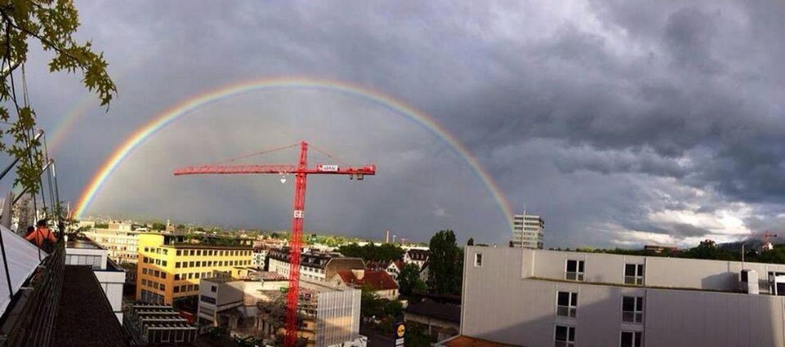 Rainbow Zürich Sky Weather