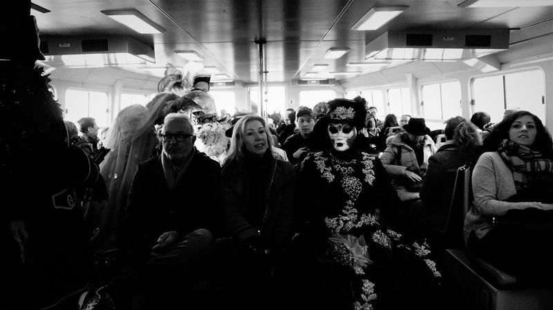 Blackandwhite Blackandwhite Photography Blancetnoir Bnw Italy Onboard Taxi Boat Venice Venitien Mask