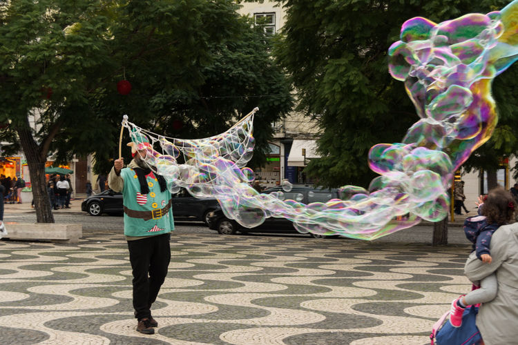 Full frame shot of bubbles in park