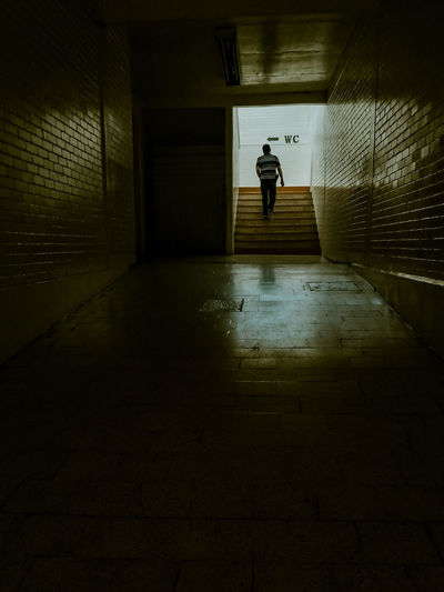 Man walking in subway