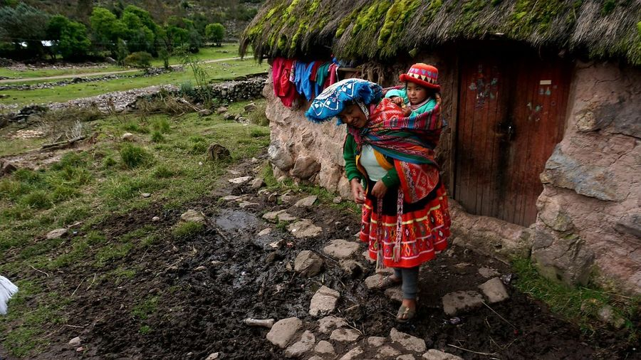 Village Peru Indian Inka South America Outdoors Tree Day One Person Adult Nature People