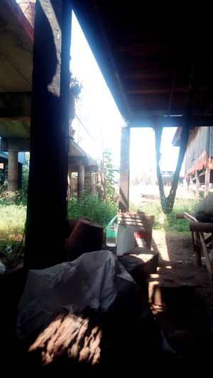 Thailand Countryside Sunny Day Late Morning Under House