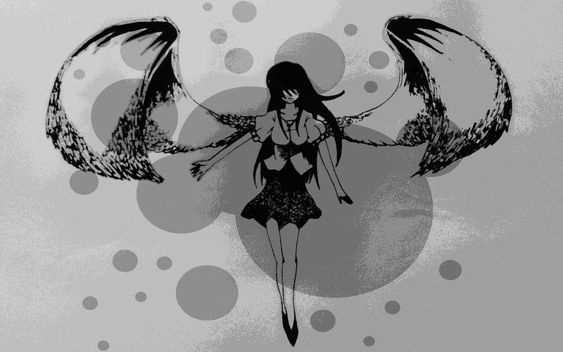 Anime Mangaart Drawing Art, Drawing, Creativity Black And White my fallen angel