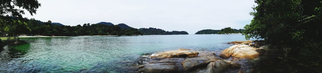 Tree Water Nature Landscape Outdoors Sky Forest Scenics Beauty In Nature Day No People Mountain Panorama Sea Lagoon Rocks Pangkor Malaysia